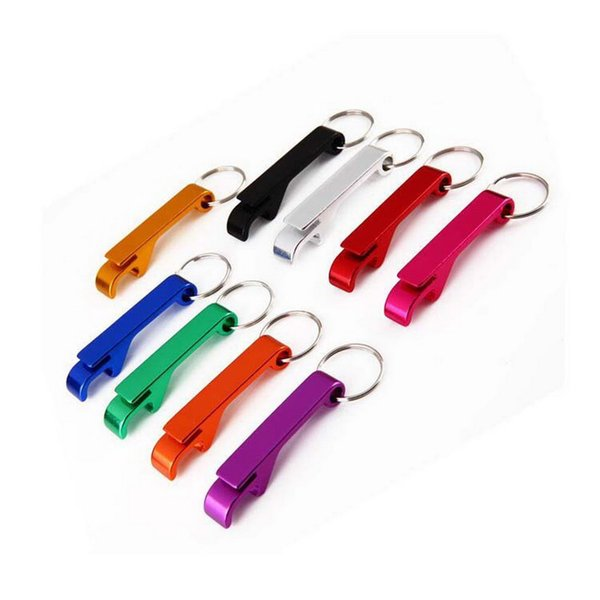 Pocket Key Chain Beer Bottle Opener Aluminum Alloy Claw Bar Small Beverage Keychain Ring Can do logo DHL Free Shipping