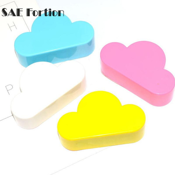 keys hook wall SAE Fortion 1pc Kit Lovely Cloud Shape Magnetic Key Hook Wall Hangers Holder Home Decoration 4 Different Color