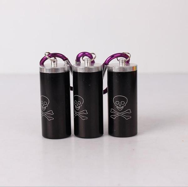 Portachiavi con chiave circolare circolare montato su auto, posacenere, accessori per fumo, ferramenta, posacenere portatile in lega di alluminio