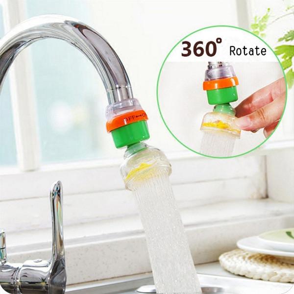 Dispositif d'adaptateur de robinet d'écoulement de robinet économiseur d'eau à tête pivotante pivotant à la maison de 360 degrés