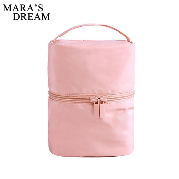 Mara's Dream Women Cosmetic Cases large capacity waterproof Polyester Women bag casual solid color wash bag storage