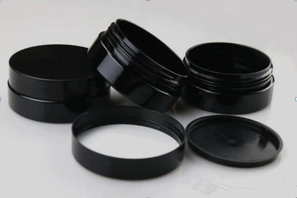 Electronic cigarette 30mlml 50ml 80ml 100ml black plastic cosmetic jar empty PET cream storage container 100g 80g 50g 30g
