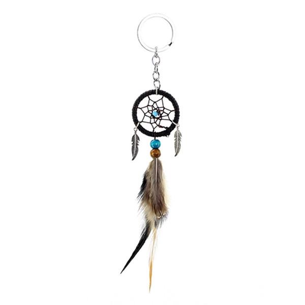 Key Chain Mini Dream Catcher a mano piuma Borsa auto Hanging Accessori Hanging Decor regalo del mestiere Home Decor
