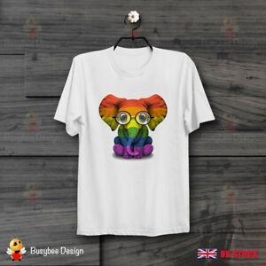 Gözlük Bebek Fil Eşcinsel Gurur Gökkuşağı Gurur Soho Lgbt Unisex T Gömlek B497