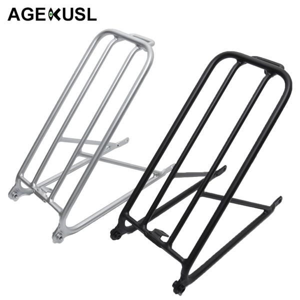 AGEKUSL Bike Standard Cargo Rack For Brompton Folding Bicycle Aluminum Easy wheel Rack Mini Cycling Bicycle Accessories 300g #80240