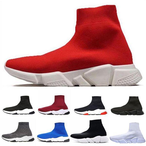 Haute Qualité Chaussure De Luxe Chaussure Vitesse Trainer Running Baskets Vitesse Trainer Chaussette Course mode luxe hommes femmes designer sandales chaussures