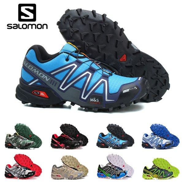 Salomon Hız çapraz 3 III CS Trail Koşu Ayakkabıları Erkekler Kadınlar için siyah kırmızı mavi Açık Yürüyüş Atletik Spor Sneakers e ...