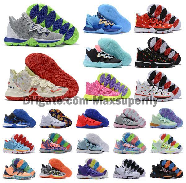 Hot New Boys Colore bambini Kyrie V 5 KI5 scarpe da basket formazione Irving 5S Uomini Gioventù Femminile Donne Sport Sneakers alta caviglia Dimensioni US7-12
