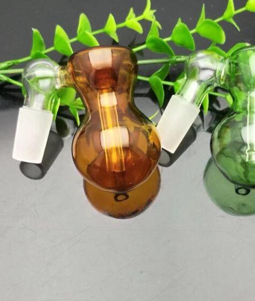 Nouvelle couleur tête de bouteille en verre Bangs en verre Brûleur à mazout Tuyaux d'eau en verre Installations de forage de tabac 18 mm mâle