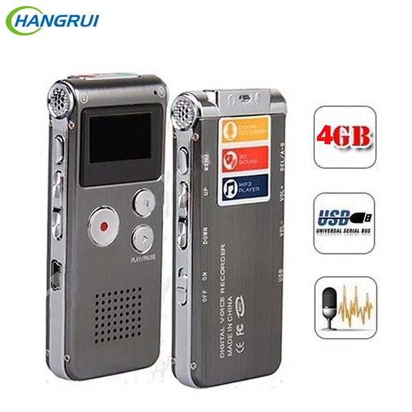 8gb Voice Recorder Usb Flash Digital Audio Professional Voice Activated Dictaphone Support 650hr Dictaphone Mp3 Player T190628