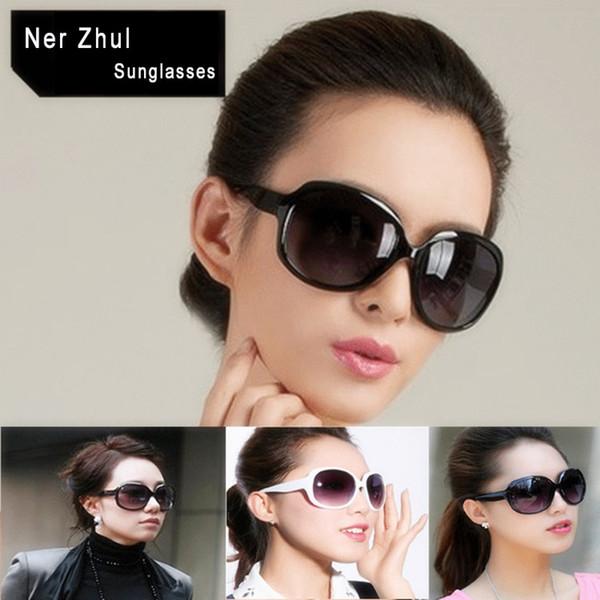 Beliebte Mode Übergroßen Frauen Sonnenbrille Vintage Weiß Große Ovale Weibliche Sonnenbrille Große Braune Damen