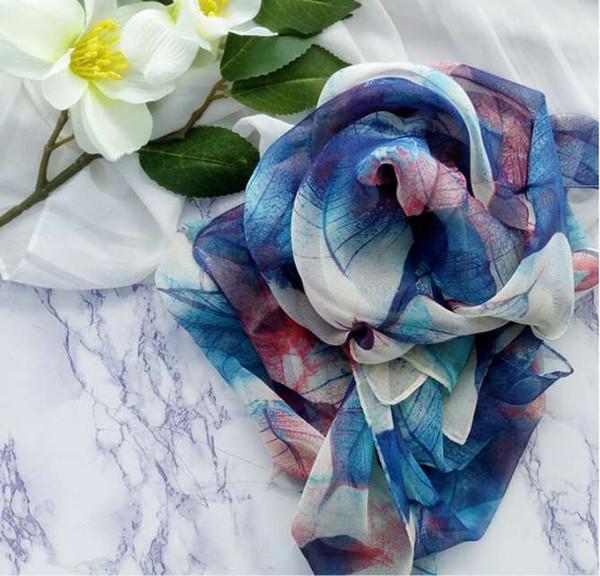 Echarpes Femme Printemps / Eté Créateur pour dames Thin Shawls Etoles Hijab Top Qualité écharpe de luxe Drop Shipping