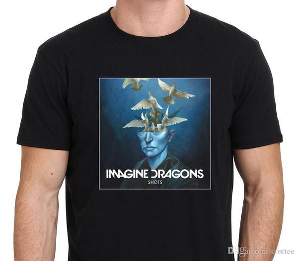 Представьте себе, драконы выстрелы EP Обложка альбома футболка мужская черный размер: S-to-XXL