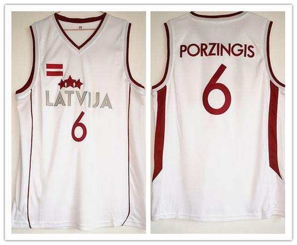 Latvija Kristaps Porzingis # 6 Manu Ginobili Mann Frauen Jugend Basketball Trikots Größe S-5XL beliebiger Name