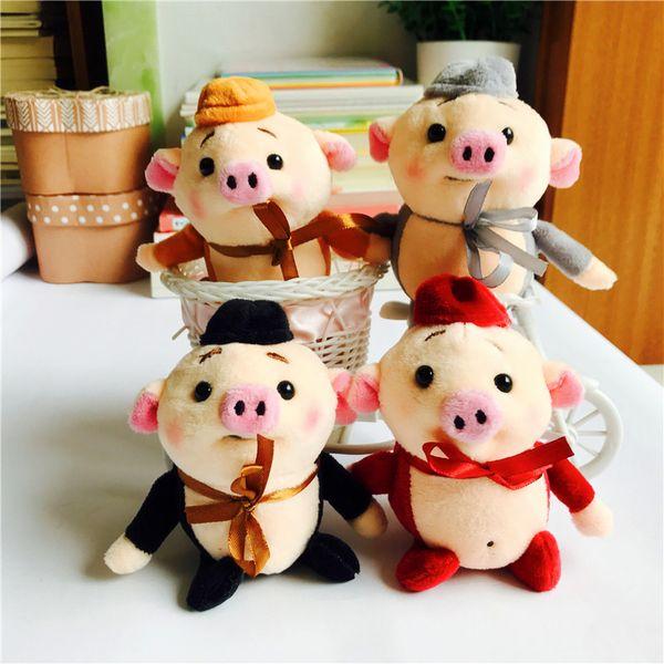 1pcs Cute Pig Anime Keychain Car Fur Keychain Plush Key Keychains Key Ring Holder Pendant for Bag Gifts for Women Girl