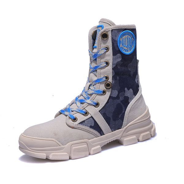 Women Camouflage Combat Boot Lace Up Martin Boots Fashion Cowboy Boots Motorcycle Boots Army Boot Mid-caft Boot Casual Shoes