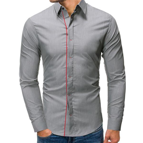 Camisas de vestir de diseñador para hombre de moda Turn Down Collar Manga larga para hombre Tops Ropa casual para hombre