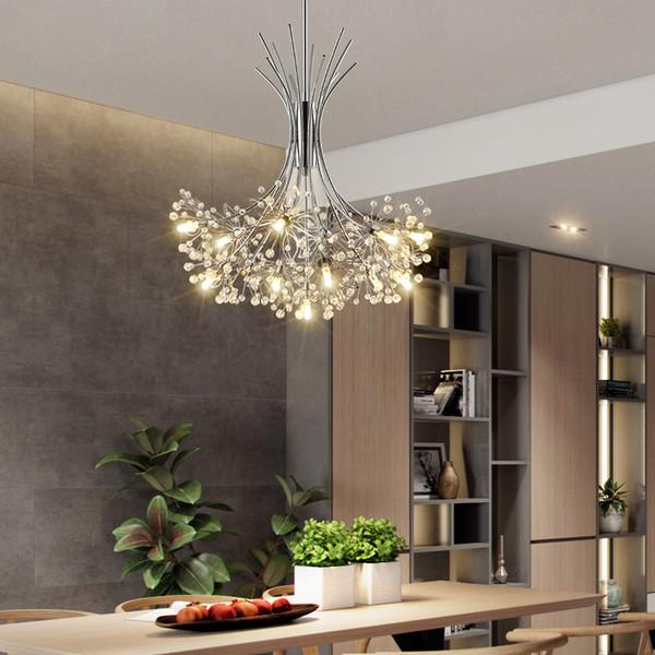 Großhandel LED Moderne LED Kronleuchter Beleuchtung Nordic Restaurant  Pendelleuchten Schlafzimmer Leuchten Esszimmer Kristall Hängeleuchten Von  ...