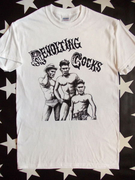 Revolting Cocks Revco white screen printed t-shirt Ministry Front 242 size S-2XL
