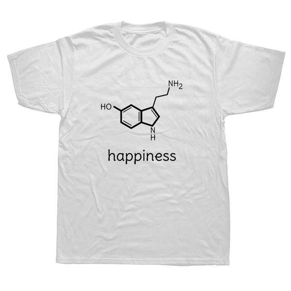 Komik Mutluluk Bilim Kimya T Shirt Fizik Biyoloji Severler Sevgililer T-shirt Casual Tees
