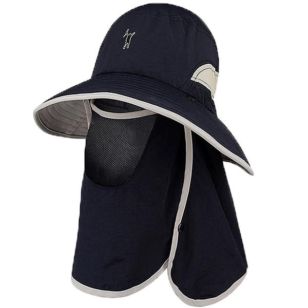 Men's Cap Fishing Hats UV Protection Sun Hats UPF 50+Neck Face Flap Cover Windproof Wide Brim Hat For Men&Women Summer Outdoor Work Gard