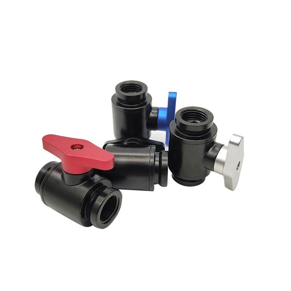 G1/4 Mini Cut-Off Valve Water Flow Control Switch Opener Computer Cooling Tool