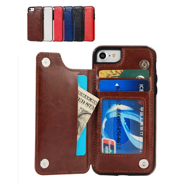 Multi-functional ID Credit Card Slot Photo Frame Flip PU Leather Phone Case Wallet Protective Covers For iPhone X XR XS MAX 6 6S 7 8 PLUS