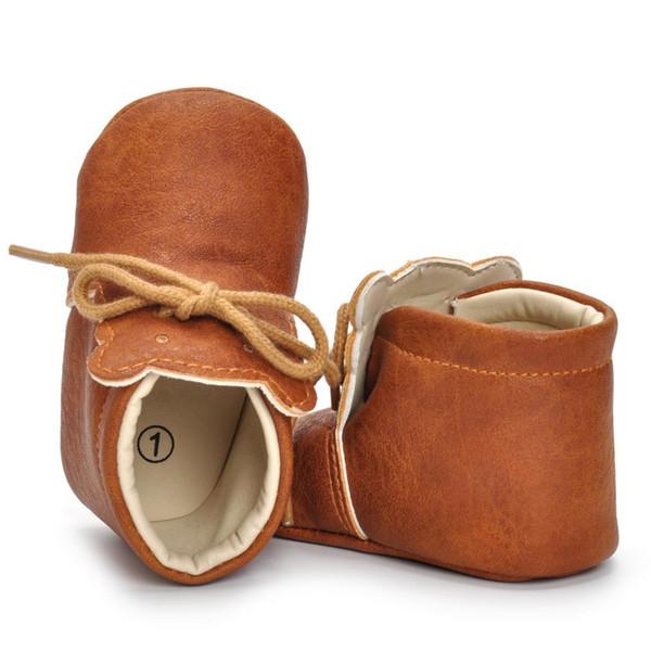 Newborn ToddlerBaby Boys Girls Cartoon Bear Soft Sole Boots CasualShoes