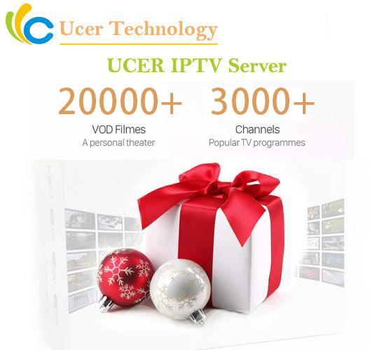 best selling Ucer IPTV Server Europe iptv subscription France UK Germany Spain Italy code for m3u Smart TV Android Enigma2 MAG Live + VOD Channels