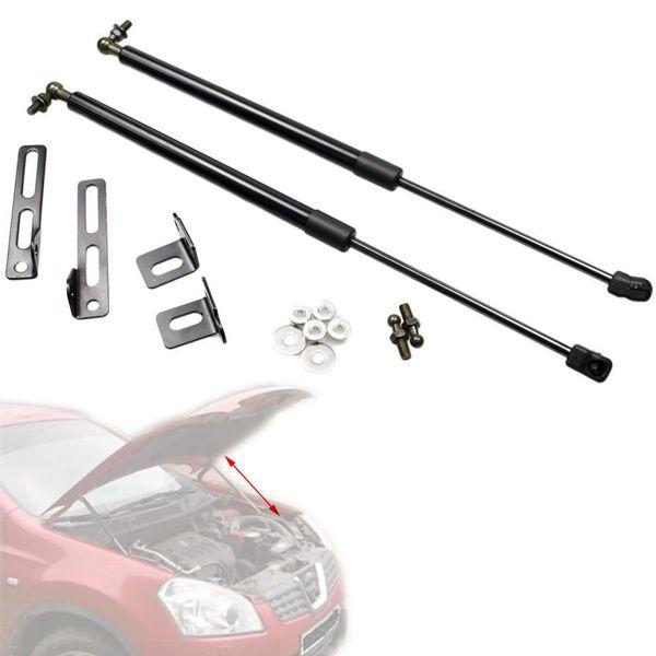 Nissan Qashqai J10 için Nissan Dualis 2006-2013 için Hood Hood Bonnet Karbon Fiber Gaz Struts Asansör Desteği Şok Amortisör değiştirmek