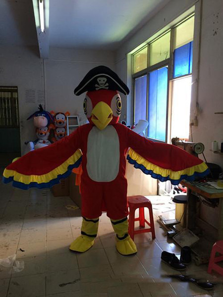 2018 Hot sale parrot mascot costume cute cartoon clothing factory customized private custom props walking dolls dol