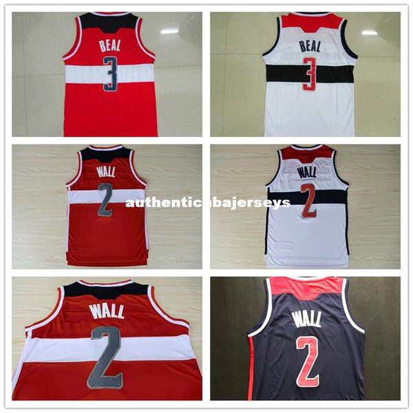 Wall # 2 Beal # 3 Basketball Jersey, Logos cosidos para hombres Basketball Jersey Envío gratis Ncaa College