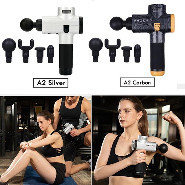 massage gun percussion massager muscle vibrating relaxing tools therapy fitness trainer deep relax device phoenix a02