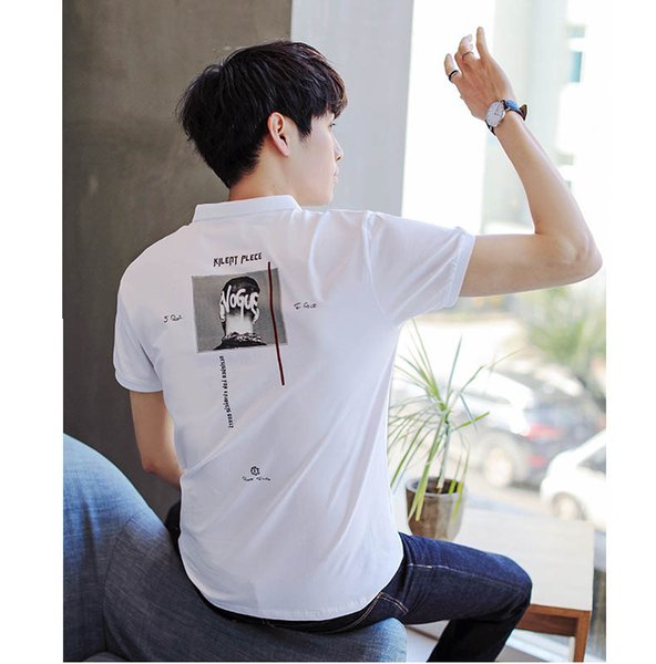 Men Fashion Polo Shirts 2019 Summer New Men's Short-sleeved Lapel T-shirt Men's Slim Printed Polo Shirt Men Trend Shirts Plus Size M-3XL