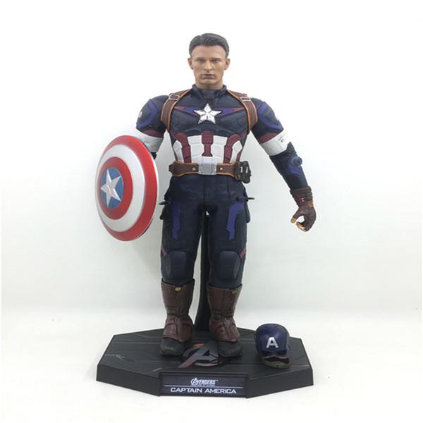 Çocuklar Hediye için 29cm Sıcak Satış Kaptan Amerika 1/6 Ölçek PVC Action Figure Modeli Koleksiyon Oyuncak