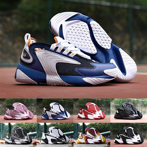 Acheter 2019 Haute Qualité M2k Tekno Zoom 2K Hommes Femmes Casuall Baskets Chaussures Mode Luxe 2000 Voile Noir Blanc Orange Designer Baskets De