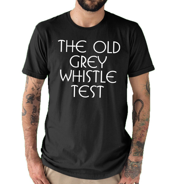 The Old Grey Whistle Test Text Only Vintage Classic T shirt Black All sizes