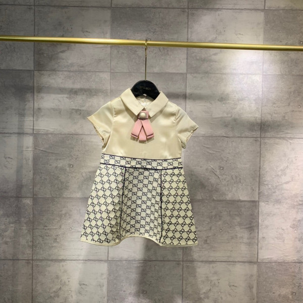 Girls skirt 2019 new princess dress fabric and delicate upper body comfortable and breathable brooch detachable