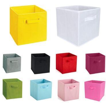 Non-Woven Fabric Folding storage box toys organizer clothes storage bin for Underwear Bra Socks books desktop box
