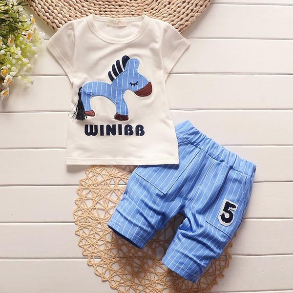 good quality summer baby boy clothing sets 2019 new hot sale infant cartoon t shirt+short 2pcs set toddler bebe fashion outfits suit
