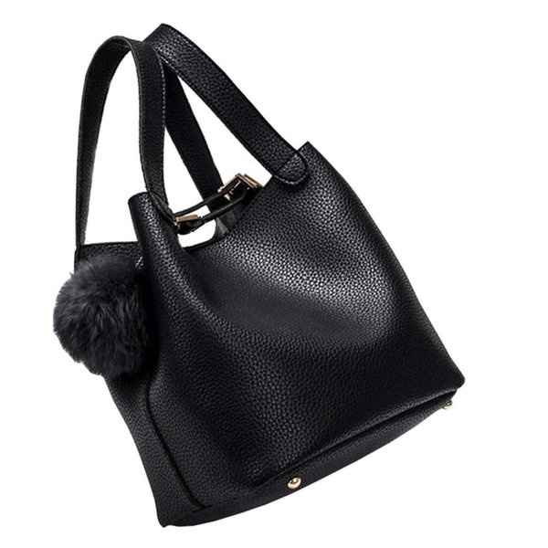 e8d451f2b887 Crossbody Bag,Cute Hair Ball PU Leather Hasp Handbags Shoulder Bag  Messenger Tote Purse For Women And Girls Duffel Bags Ladies Purse From  Lookchill, ...