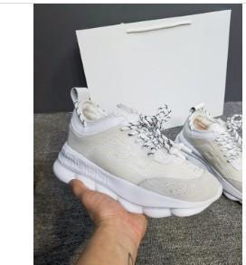 Zincir Reaksiyon Rahat Tasarımcı Sneakers Spor Moda Rahat Ayakkabılar Eğitmen Toz Torbası Ile Hafif Bağlantı Kabartmalı Taban wl18120802