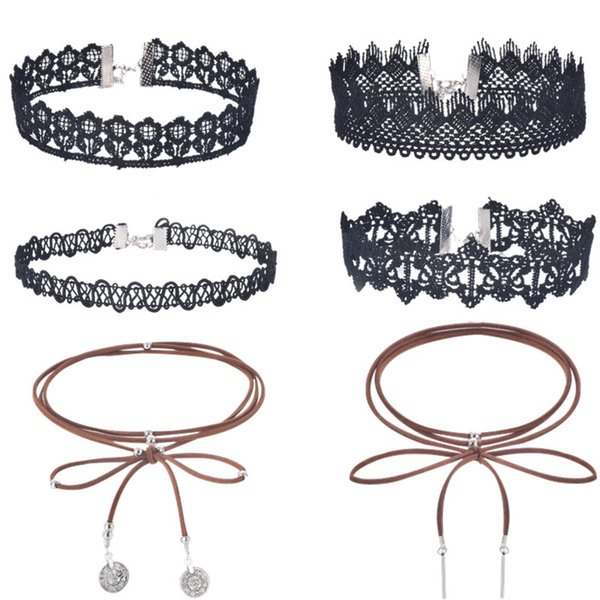 Fashion Jewelry Cool Cloth Lace Tattoo Choker Necklace Valentine's Day Present Love Gift for Women