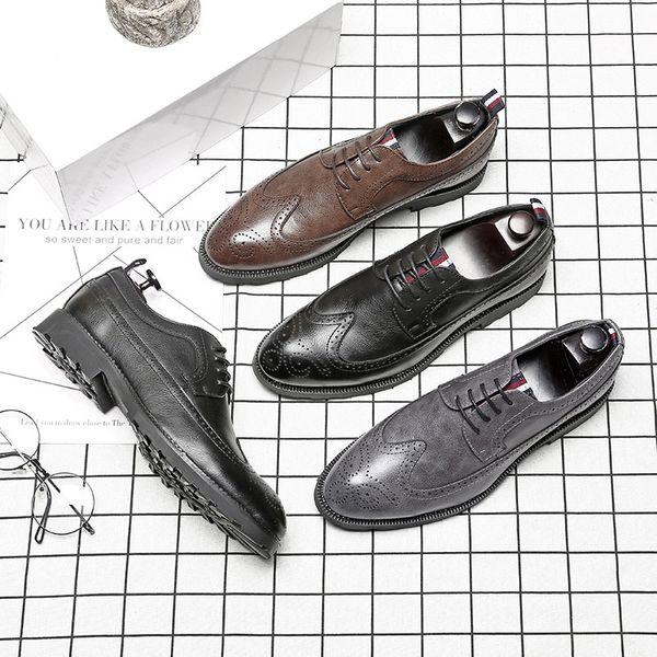 Grande taille 47 mode luxe britannique marque en cuir chaussures de mariage chaussures d'affaires robe pour jeune homme Discothèques chaussures RA-71