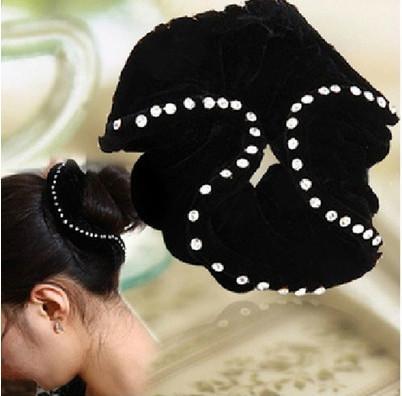 Neue samtelastische Haargummis mit CZ-Zirkon-Haarbändern Damen-Accessoires PD031