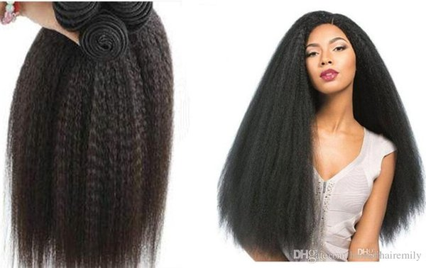 "Non processed Wholesale Brazilian Yaki Hair weave natural black 12""-28 ""100% virgin Human hair extensions"