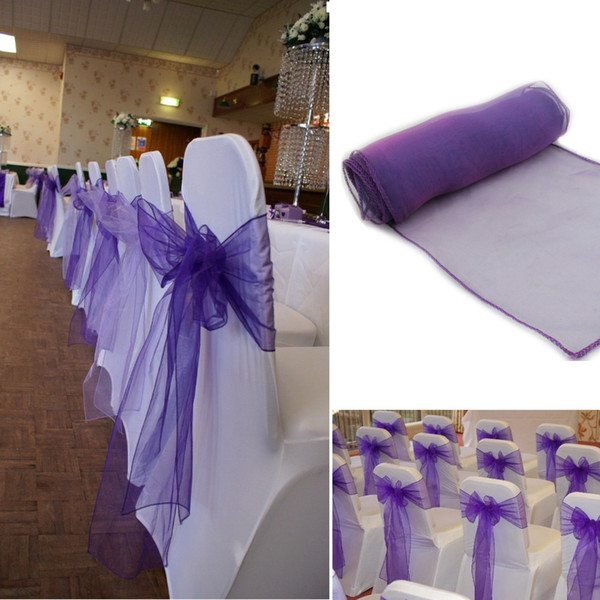 FERR SHIPPING 100pcs New organza chair sashes bow wedding party decoration and,wedding product decoration high qulity