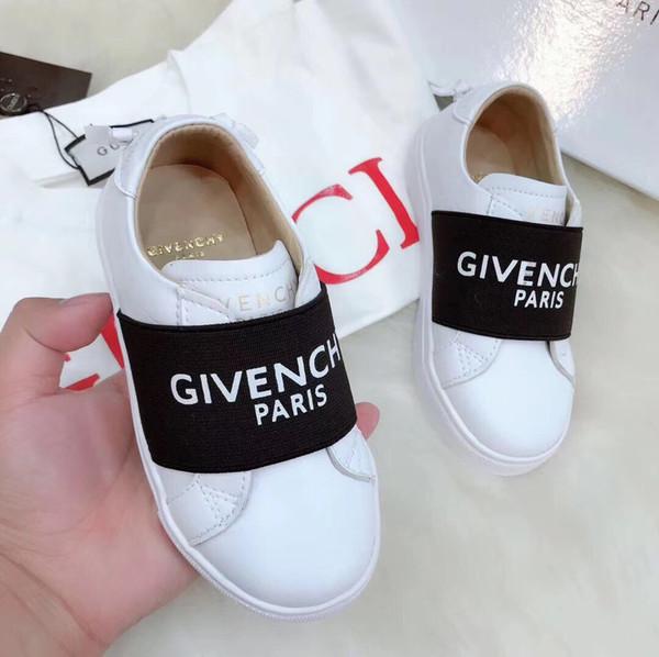 2019 Best Fashion Jungen Mädchen Designer Schuh Angesichts Logo Paris Low-Top Leder Sneaker CHY Luxus Schuh Unisex Freizeitschuhe Mit Box chaussures