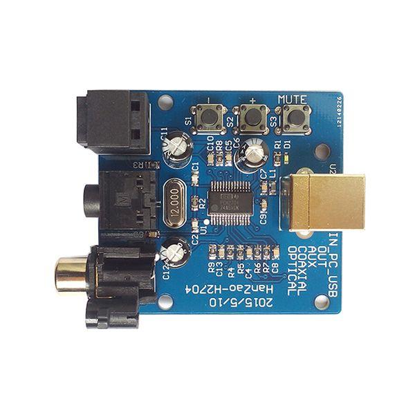 DAC decoder computer USB input fiber output coaxial output analog audio dual channel output computer sound card HIFI sound card PCM2704