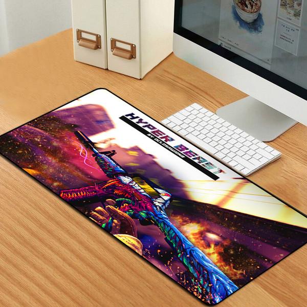 Large Gaming Mouse Pad Locking Edge CSGO Mice Keyboard Desk Protector  Rubber Mat Gamer Anti